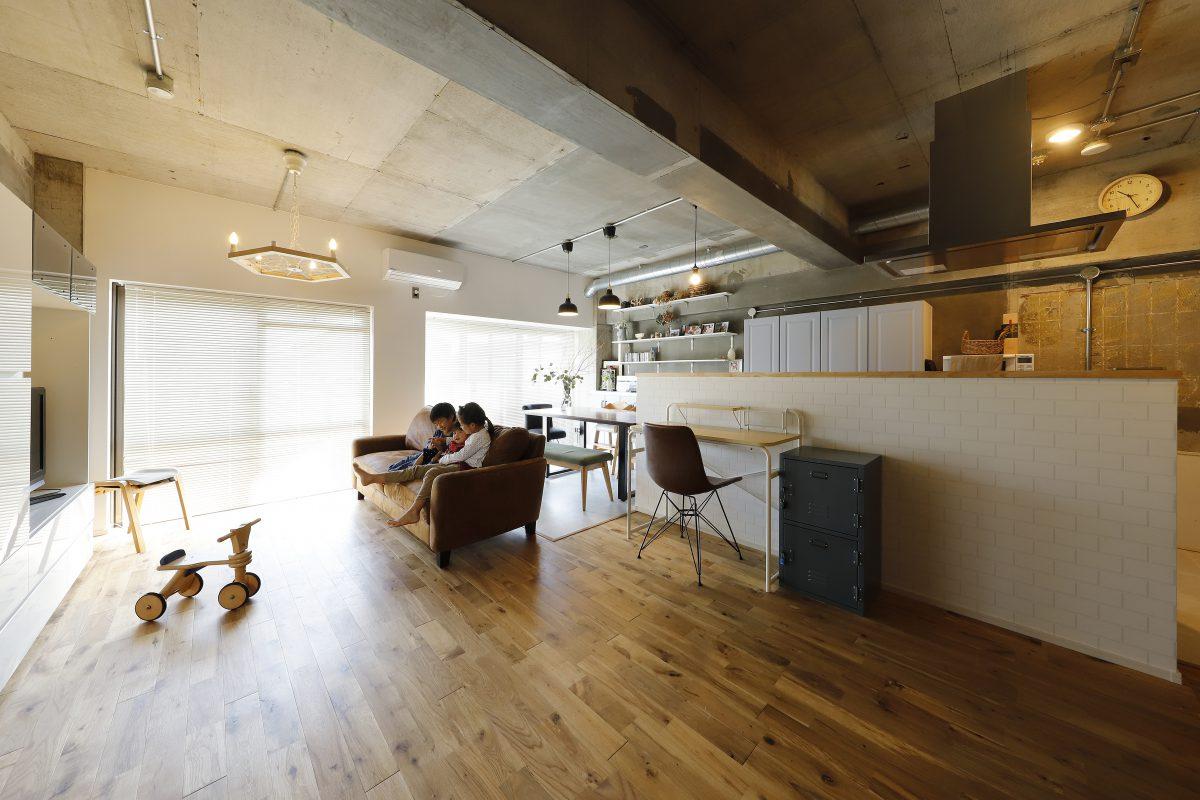 [絆の家1/13放送]マンションリノベーションで生まれた自由にカスタマイズ出来るフルオープンな住まい